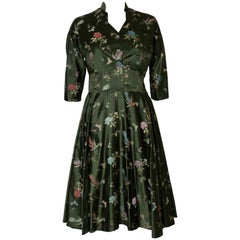 A Vintage 1950s Green Dress and Bolero Jacket by Butterick