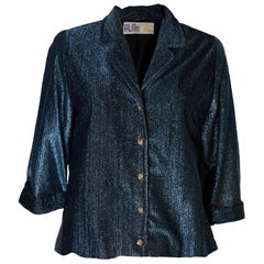 A Vintage 1960s Blue Lurex  Jacket