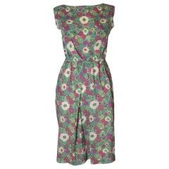 A Vintage 1960s Floral Print Summer Day Dress