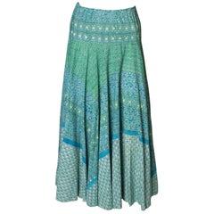 A Vintage 1970s Floral Printed Cotton Boho Summer  Skirt