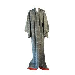 A vintage 1980s beautiful full length silk kimono