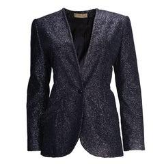 A vintage 1980s Christian Dior Blue Evening Jacket
