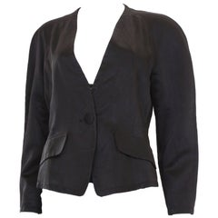 A vintage 1980s Evening Jacket by Yves Saint Laurent Variation Line