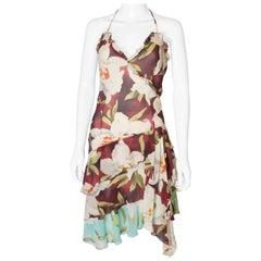 A vintage Cacharel 1990s Floral Print Silk  Dress