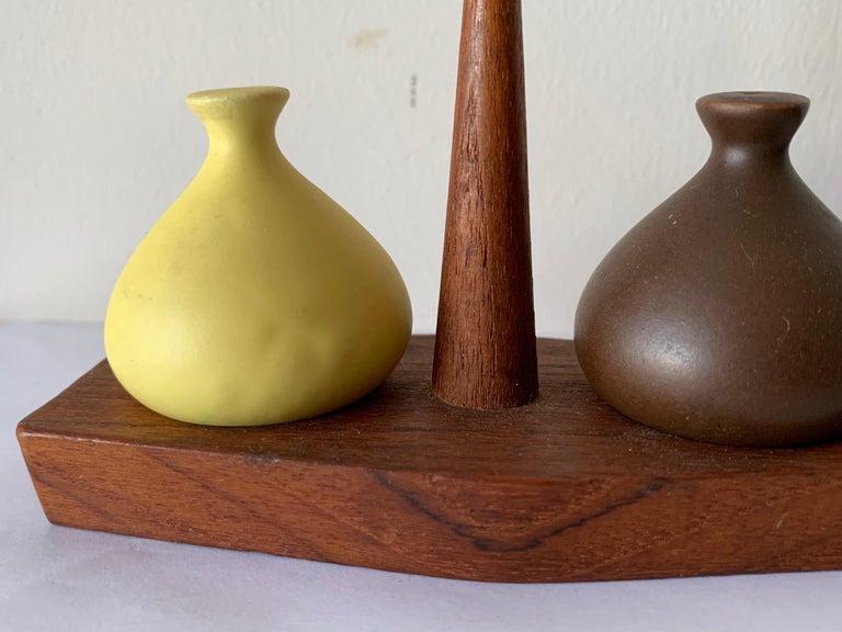 Mid-Century Modern Vintage Italian Salt and Pepper Set by Arni Form For Sale