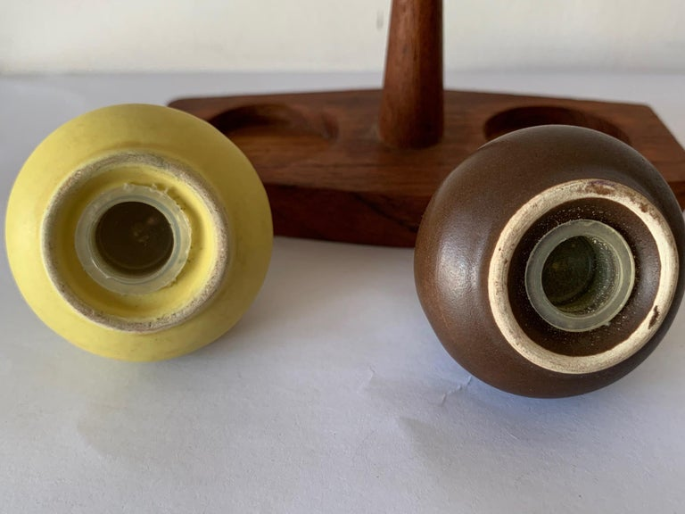 Vintage Italian Salt and Pepper Set by Arni Form In Good Condition For Sale In St.Petersburg, FL