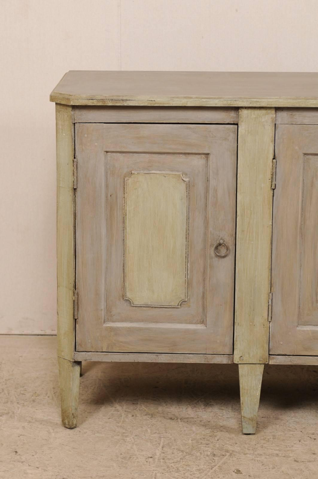 vintage painted wood buffet sideboard cabinet in grey with soft rh 1stdibs com vintage painted buffet sideboard painted buffet sideboard