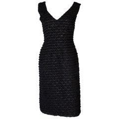 A Vintage Tussi 1960s Black Glitter Cocktail Dress