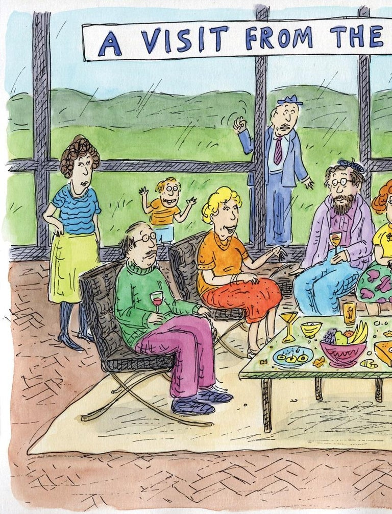 Roz Chast A Visit From The Relatives, 2013 Silkscreen Signed and numbered on front by artist Measures: 17 x 20 inches Edition: 20 Unframed Courtesy of the artist.