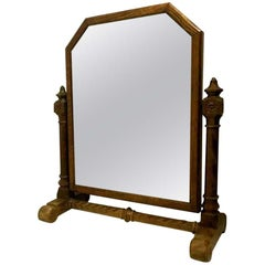 A W N Pugin. An Important Dressing Table Mirror with carved spiral stretcher