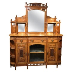 Walnut Aesthetic Period Chiffonier by Ogdens of Manchester