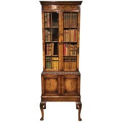Walnut George I Style Bookcase by Maple & Co