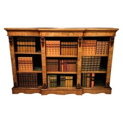 Walnut Mid-Victorian Period Open Bookcase