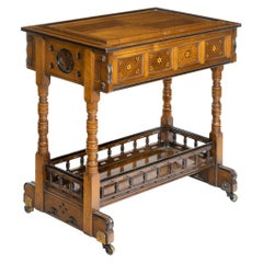 Walnut Side Table/Jardinière by Gillows Probably after Augustus Pugin