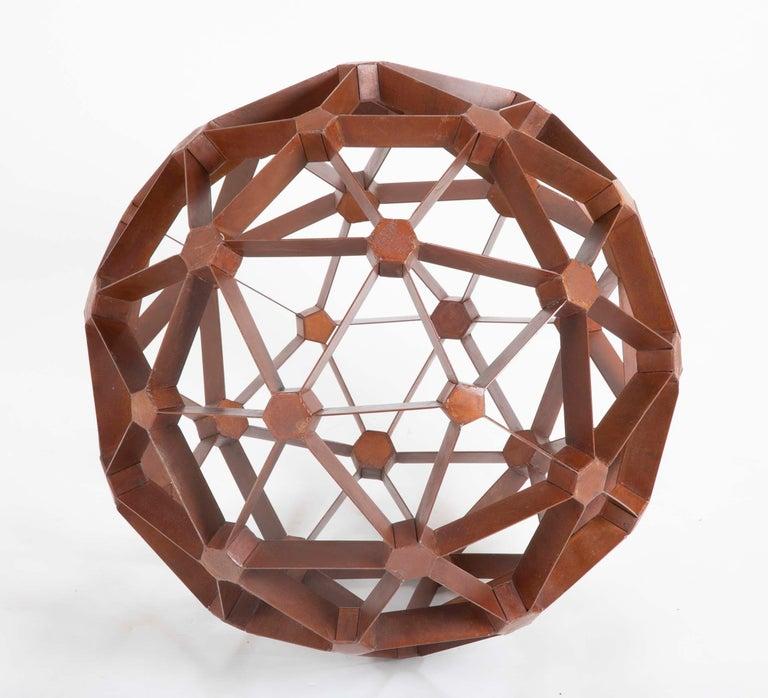 American Waxed Steel Geodesic Sphere For Sale