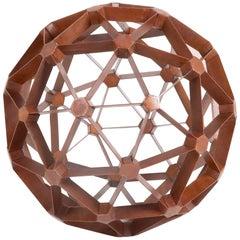 Waxed Steel Geodesic Sphere