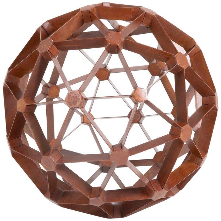 Waxed Steel Geodesic Sphere For Sale