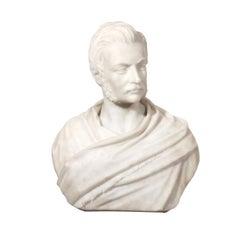 A White Marble Bust of a Gentleman by John Warrington Wood