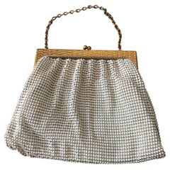 A Whiting & Davis Gold and White Mesh Hand Bag circa 1960