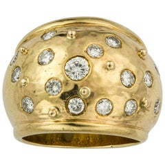 Wide Diamond Set Ring