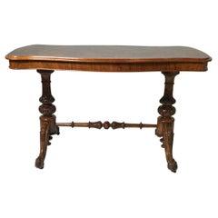 William IV Burl Walnut Console Sofa Table