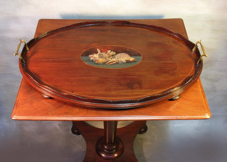 William IV Mahogany Occasional Table circa 1830 with George III Mahogany Tray For Sale 6