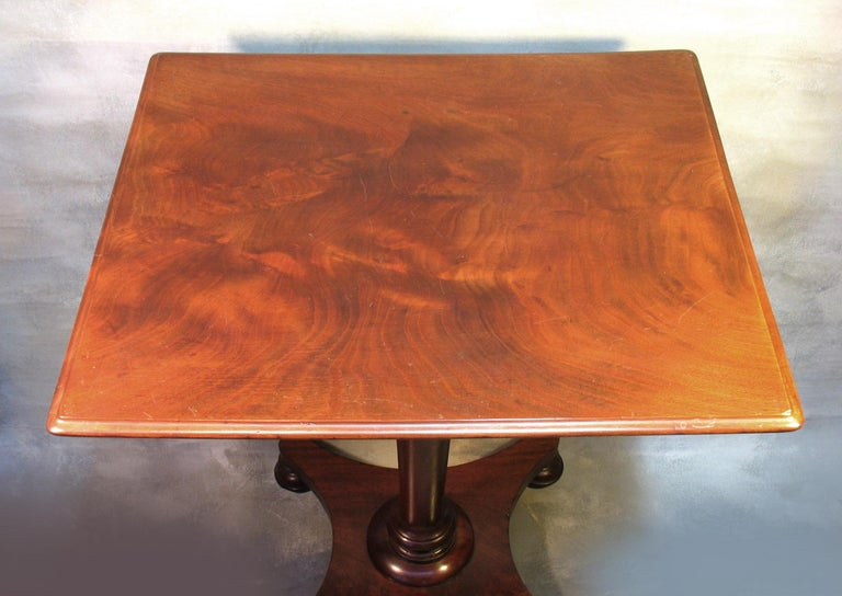 Hand-Crafted William IV Mahogany Occasional Table circa 1830 with George III Mahogany Tray For Sale