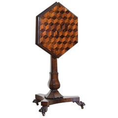 William IV Parquetry Inlaid Tilt Top Occasional Table