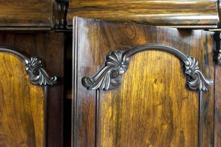 British William IV Rosewood Chiffonier For Sale