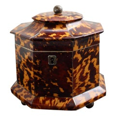 William IV Tortoise Shell Tea Caddy