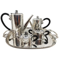 "William Spratling ""Jaguar"" Sterling Silver Coffee and Tea Service"