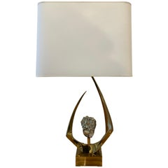 Willy Daro Lamp, Signed, 1970s
