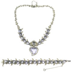 A 'Witch's Heart' necklace and bracelet, Christian Dior by Mitchel Maer, 1950s.