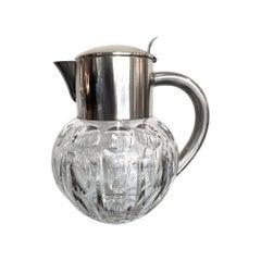 Wmf Silver Plated Crystal Lemonade / Cocktail Jug Engraved with Circle Motifs