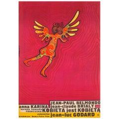 A Woman Is a Woman 'Une femme est une femme' 1967 Polish A1 Film Poster