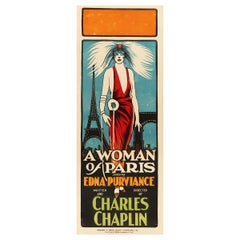 'A Woman of Paris' Original Vintage Movie Poster, Australian, 1924