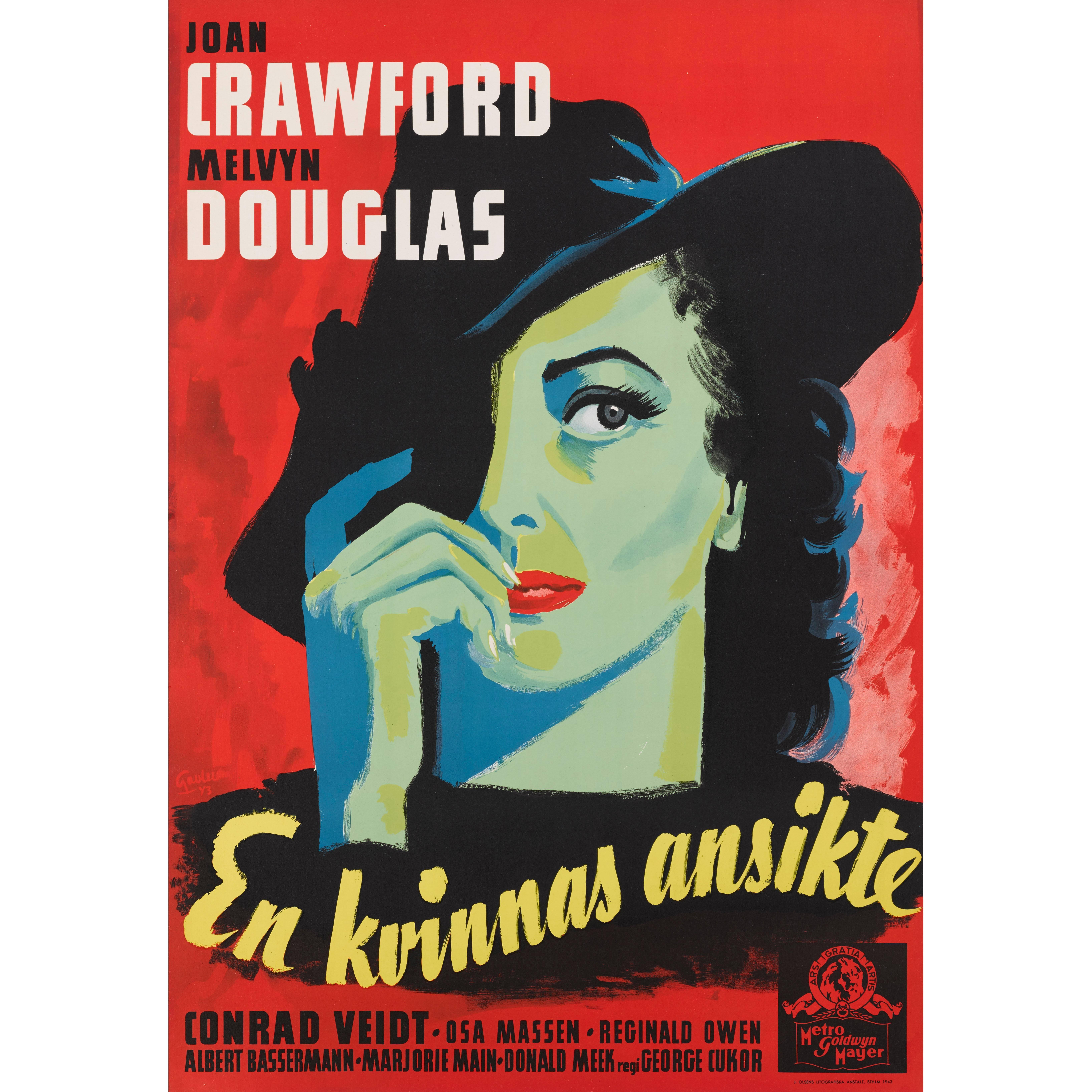 A Woman's Face / En Kvinnas Ansikte, Swedish Film Poster