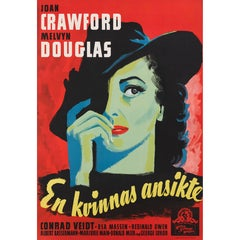 A Woman's Face / En Kvinnas Ansikte, Swedish Film Poster