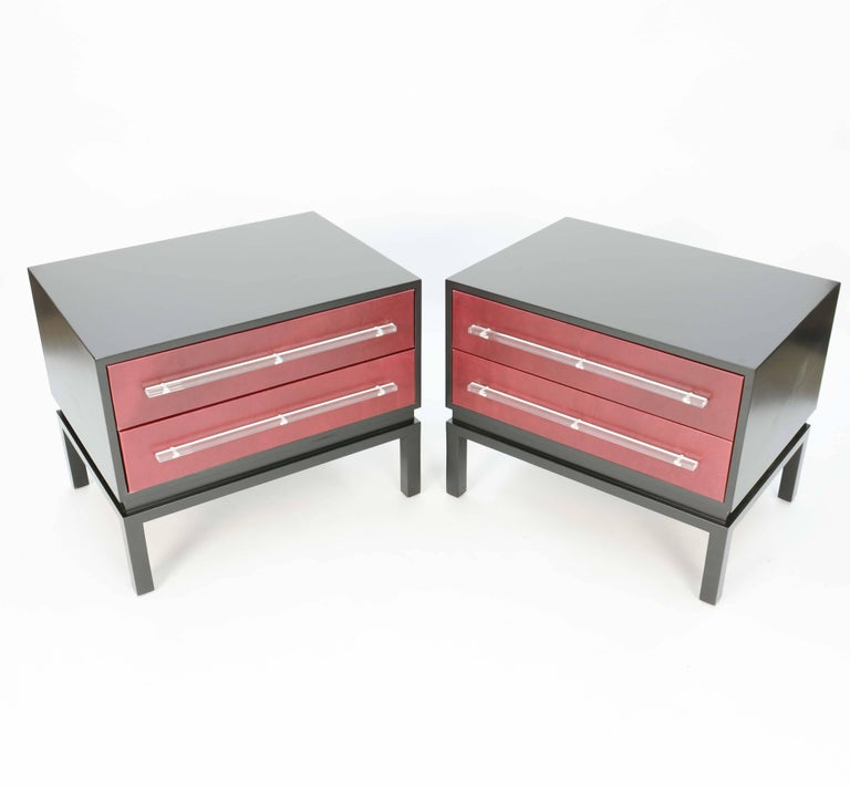 Mid-Century Modern Wonderful and Handsome Pair of Monumental Night Stands after Paul Laszlo For Sale