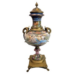 Wonderful Art Nouveau Sevres Poecelain Covered Vase