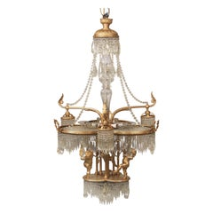 Wonderful Early 20th Century Gilt Bronze and Crystal Thirteen-Light Chandelier