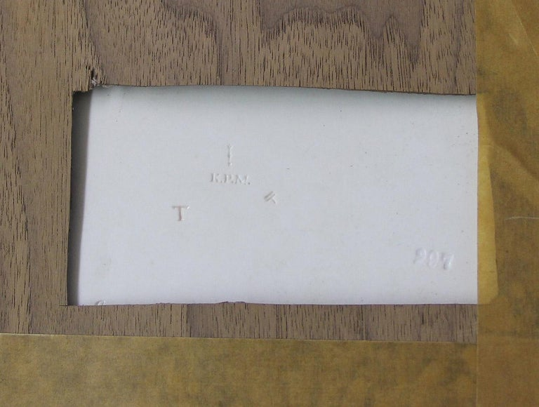 German Wonderful Late 19th-Early 20th Berlin K.P.M. Porcelain Rectangular Plaque For Sale