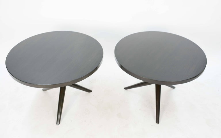 Mid-Century Modern Wonderful Pair of T.H. Robsjohn-Gibbings Jacks Side Table for Widdicomb For Sale