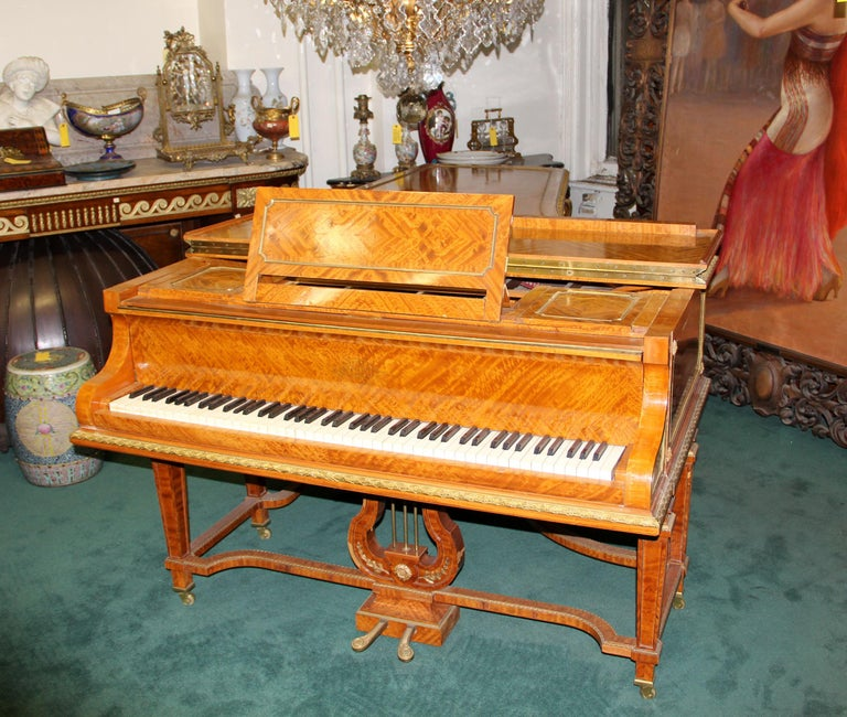 Belle Époque Wonderful Turn of the Century Gilt Bronze Mounted Six-Leg Grand Erard Piano For Sale