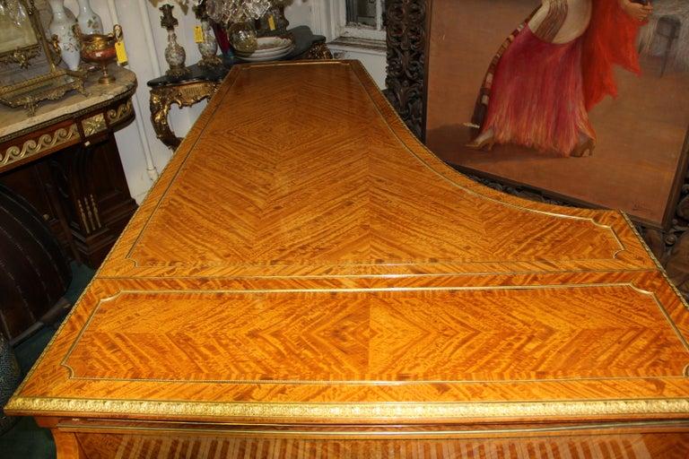 French Wonderful Turn of the Century Gilt Bronze Mounted Six-Leg Grand Erard Piano For Sale