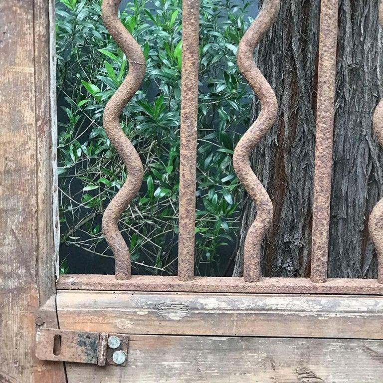 Restauration Wood and Iron Door For Sale