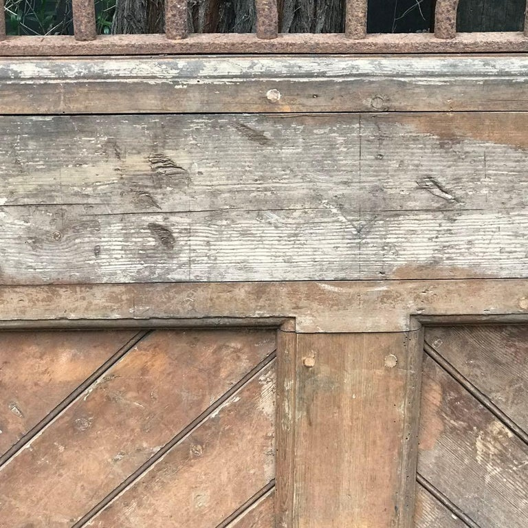 French Wood and Iron Door For Sale