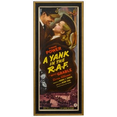 """""""A Yank in the R.A.F."""" Vintage Clark Cable World War II Movie Poster"""