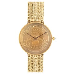 Yellow Gold Coin Watch
