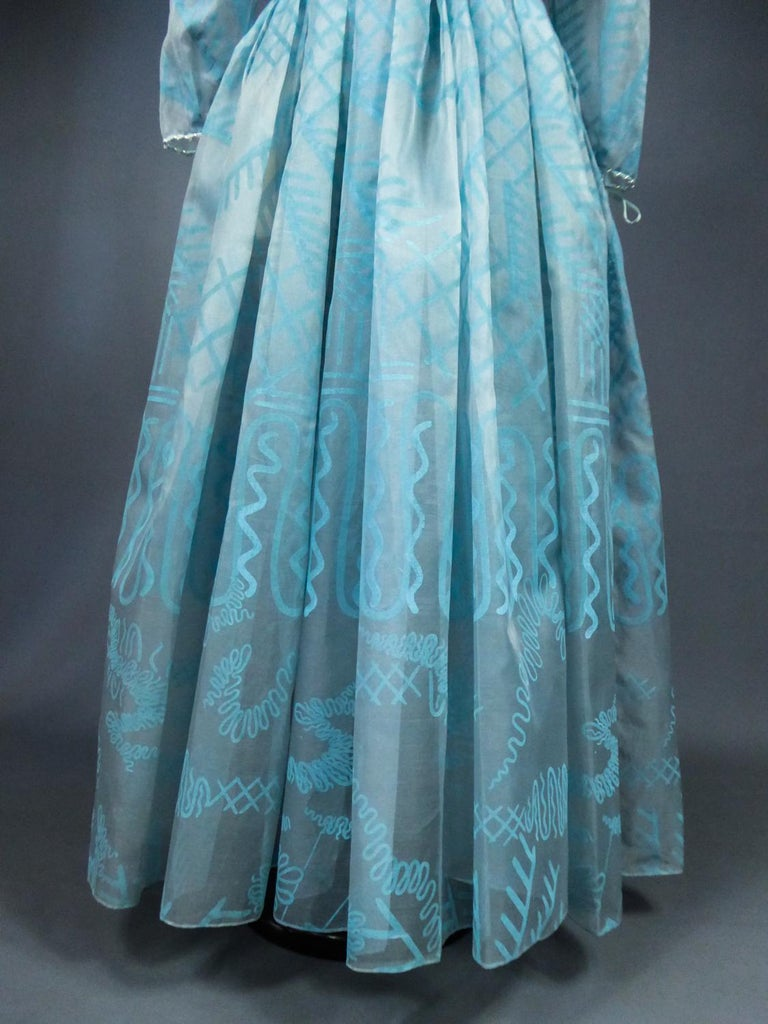 A Zandra Rhodes Evening Dress in Printed Organza - Fortuny Influence- Circa 1980 For Sale 5